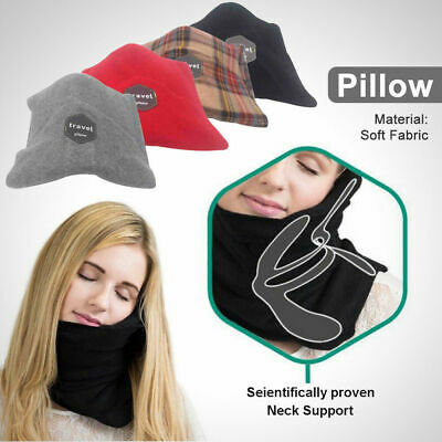 T-Pillow Portable Soft Travel Pillow Proven cervical Neck Support Sitting Nap DD