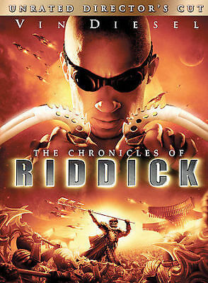 Chronicles of Riddick (DVD, 2004, Unrated Directors Cut - Widescreen) DISC MINT