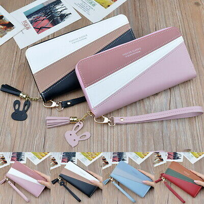 Women Ladies  PU Wallet Long Zip Purse Card Phone Holder Case Clutch Handbag