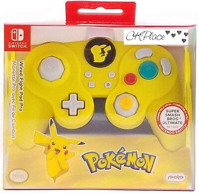 Nintendo Switch Pokemon Pikachu Fight Pad Pro Wired Controller