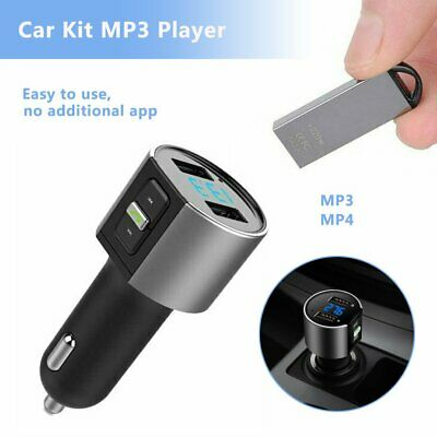 Bluetooth Car Kit MP3 Player FM Transmitter Audio Charger For iPhone Samsung %N