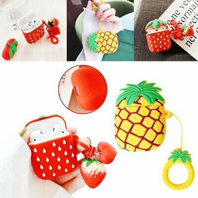 Fruit shape Silicone Case Cover Protective For Apple Airpods Charging Case %N