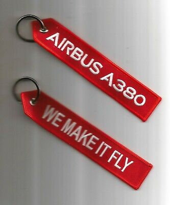 Porte Cle Flamme Airbus A380 We Make It Fly - Neuf