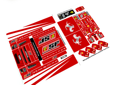 REPLACEMENT STICKERS for Lego 8185 FERRARI Truck - Racers