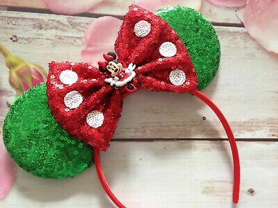 Christmas Minnie Mouse Disneyland.Minnie Mouse Ears Holiday Christmas Headband Disneyland
