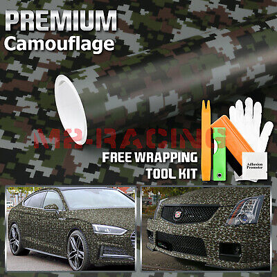 *Digital Army Green Camouflage CAMO Vinyl Sticker Wrap Decal Air Release