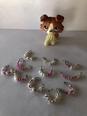 LPS Littlest Pet Shop Accessories Bead Necklaces Lot Of 11 (Animal Not Included)