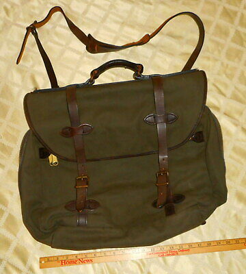 bd9fa3a44 Filson GREEN Field Briefcase Laptop Bag Overnight Carry on strap backpack