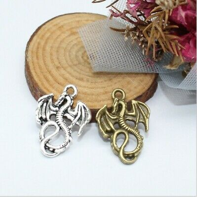 20/60pcs Multicolor Fashion Alloy Exquisite Flying dragon Pendant 21x15mm