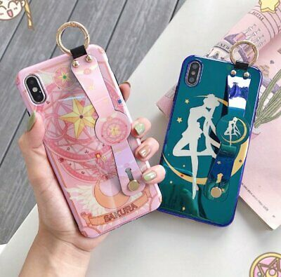 Sailor Moon Sakura Case Cover with Stand for iPhone 7 8 X XR XS Max C0107