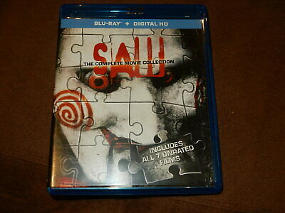 """Saw"" The Complete Movie Collection 7-Film Set 3-Disc Blu-Ray Mint Condition"