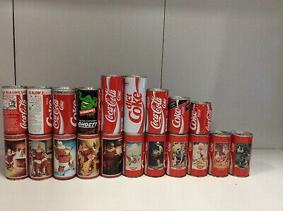 Coca Cola Steel Can Collection 1988-1992 Choose From The Drop  Down Menu $10-$25