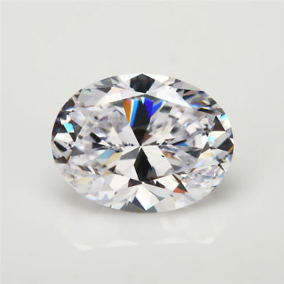 White Sapphire 12x16mm 14.18ct Oval Faceted Cut Shape AAAAA VVS Loose Gemstone