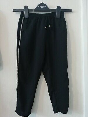 Next Girls Black Summer Trousers Age 5 Years Elasticated Waist