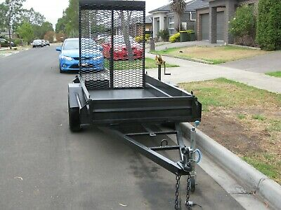 8x4 Steel Box Trailer with Ramp