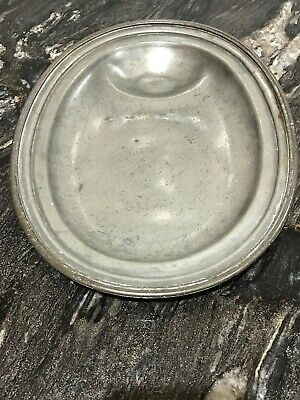 Lovely Old Antique Pewter Meat Playe Charger 14 Inches  Diameter