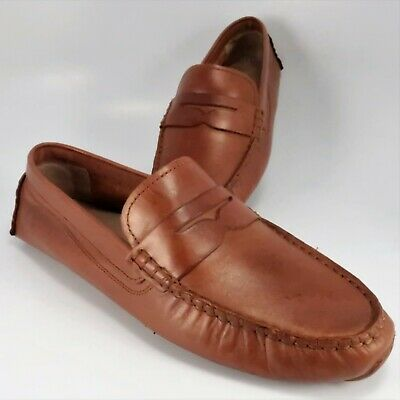 4b9ebb4d7cdd2 Cole Haan Grand.OS Driving Moccasins Womens Size 7B Brown Leather Penny  Loafers