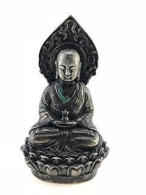 China  - Antike Buddha Skulptur Massive Bronze