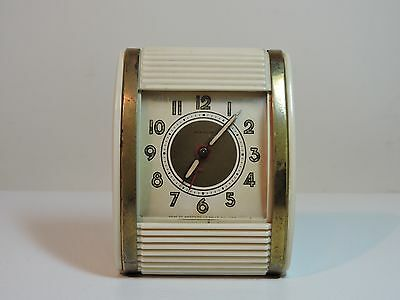 Vintage 1940's Westclox Rolltop Traveling Alarm Clock Wind Up Made in USA
