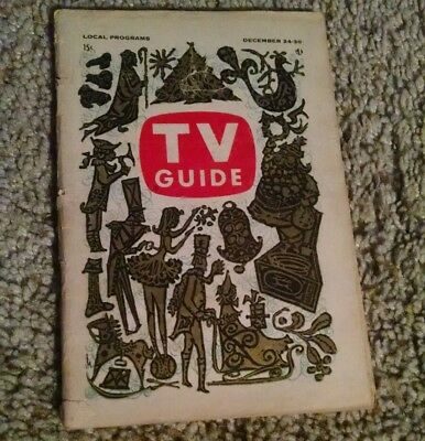 Vintage 1960 TV Guide Christmas Issue Vol. 8 #52 classic TV show ads