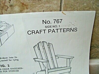 Vintage Craft Pattern #767 - Folding Outdoor Wooden Lawn Chair
