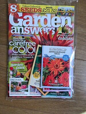 Garden Answers Magaine July 2019 Plus 8 Seed Packs Worth £21.52
