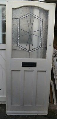 1920/30s art deco leaded light stained glass front door. R736a. DELIVERY OPTIONS