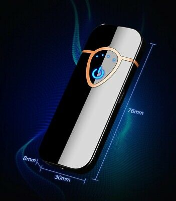 Metal electric lighter with Fingerprint touch