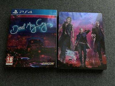 Devil May Cry 5 PS4 GAME UK Exclusive Deluxe Steelbook Edition (MINT / NO DLC)
