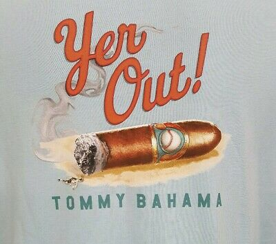 "Reg $49.50 Size L /""SMOKIN THE COMPETITION/"" Black Tommy Bahama"