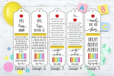 Thank You Teacher / Student Bookmarks - Personalised, Handmade