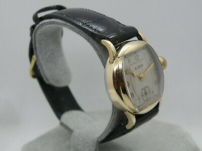 1927 Elgin Art Deco Case Man`s Watch.....large Awesome Timepiece...new Crystal &