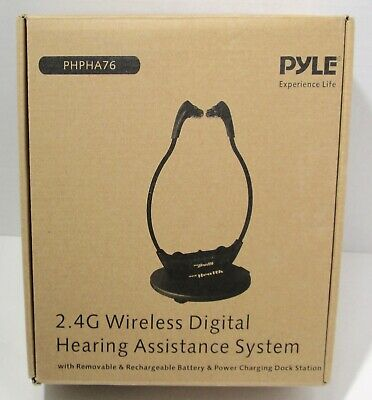 Pyle PHPHA76 Wireless TV Audio Assisted Listening Device Hearing Amplifier - New