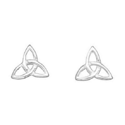 Tiny Silver Trinity Knot Celtic Irish Stud Earrings
