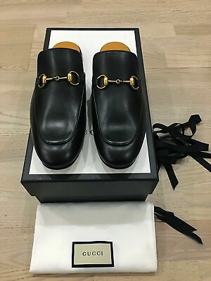 6cca3aed1 Genuine Gucci Princetown Black Mens Backless Leather Loafer UK7 EU41 US8