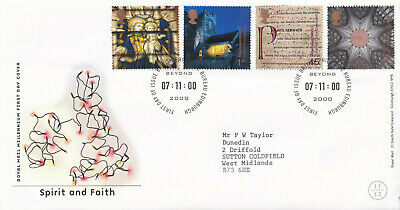 (31305) CLEARANCE GB FDC Christmas Spirit & Faith Bureau 2000