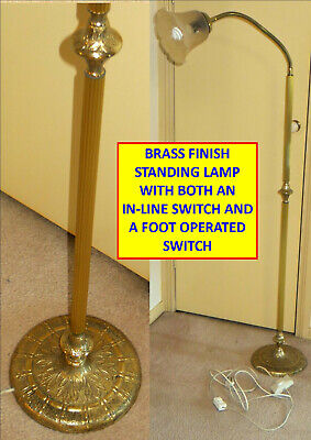 Brass Finish Standing Floor Lamp With Flexible Light...^