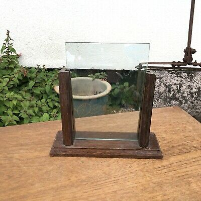 VINTAGE 1930'S ART DECO WOODEN PICTURE FRAME Double Glass
