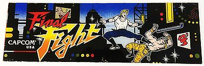 Vintage FINAL FIGHT Arcade Video Game Marquee by Capcom USA Thick Plexiglass