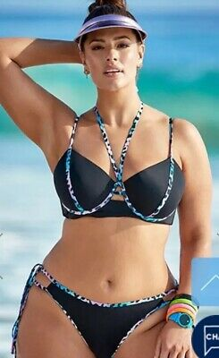 38c2c930e374 ASHLEY GRAHAM® Swimsuits For All Plus Size 14 Nirvana Underwire Bikini NWT  $102