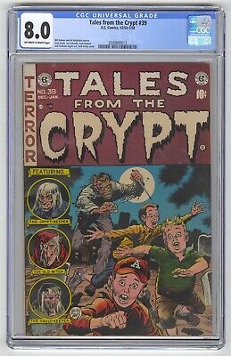 Tales from the Crypt #39 CGC 8.0 HIGH GRADE EC Comic Feldstein Story Gold 10c