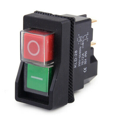 IP55 KJD17 KLD28 4Pin Start Stop On Off Volt Release Switch 250V Interrupteur x1