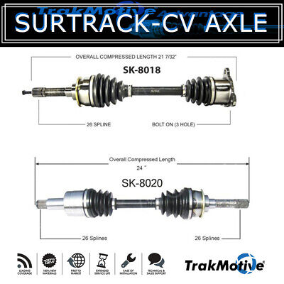 GSP NCV68032 CV Axle Shaft Assembly Right Front Passenger Side