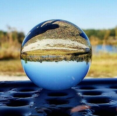 Crystal Ball Lens Photography Clear Glass Healing Sphere Photo Prop 80mm 100mm