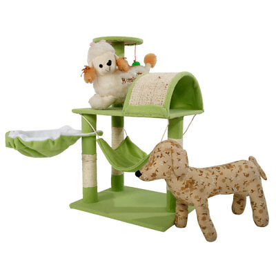 """Cat Tree Tower Condo Furniture Scratch Post Kitty Pet House Play 32"""" Green"""
