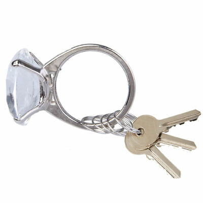 Super Big Diamond Crystal Ring Keychain Romantic Wedding Favor Party Gift toy FD