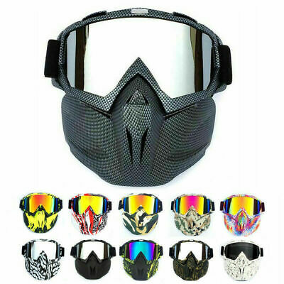Safety Work Face Shield Mask with Detachable Goggles Anti-dust/UV Eye Glasses