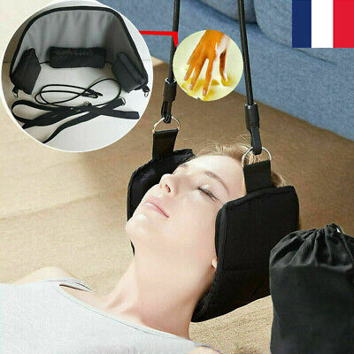 Head Hammock Traction Massager Cervical Tool Posture Neck Pain Relief Relax Neuf