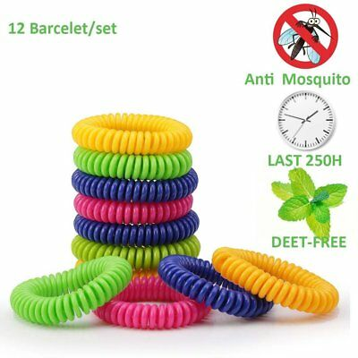 10 Pack Mosquito Repellent Bracelet Band Pest Control Insect Bug Repeller