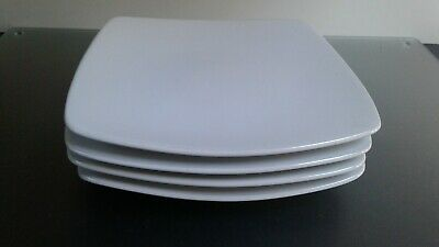 Marks And Spencer Andante White Square Dessert Plates X 4